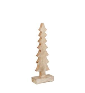 "Decoration x-mas tree gold - 4.75x2x11.75"""