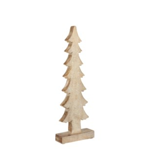Decoration x-mas tree gold - 5x2x15.75""
