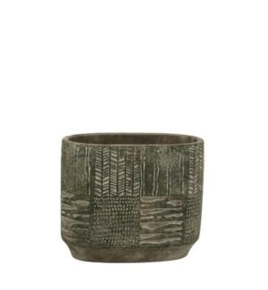 """Lynn pot oval green - 9x5.25x8"""""""