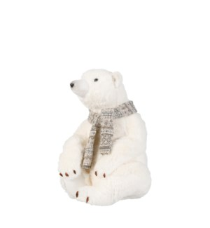 """Polar bear white - 11.5x11.5x15"""""""