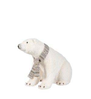 """Polar bear white - 19.75x12.5x14.75"""""""