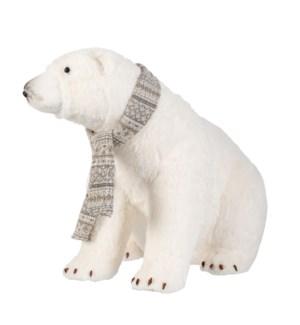 """Polar bear white - 25.25x15.75x19.5"""""""