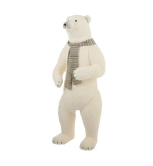 Polar bear white - 28.25x26x70.5""