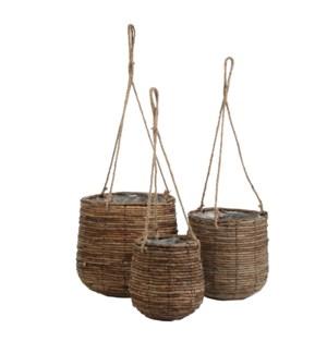 """Santo basket brown set of 3 - 13x12.25"""""""