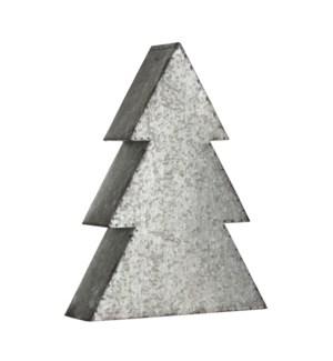 "x-mas tree silver - 11.25x3.25x15"""