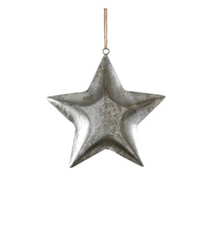 """Star hanging d. silver - 8"""""""