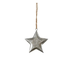 """Star hanging d. silver - 4.75"""""""