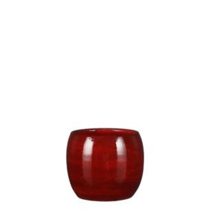 """Lester pot round red - 5.5x4.75"""""""