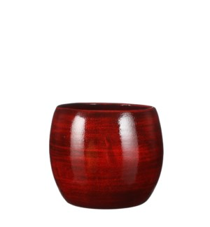"""Lester pot round red - 8x7"""""""