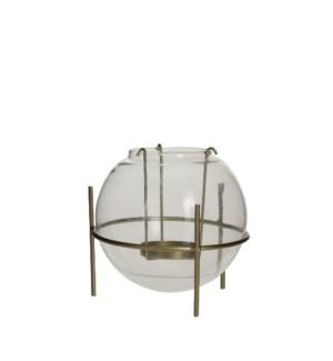 """Soof tealight holder glass gold - 5.25x5"""""""