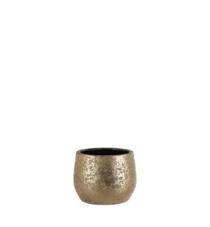 "Clemente pot round gold - 7.75x6"""