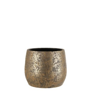 "Clemente pot round gold - 12.5x10"""