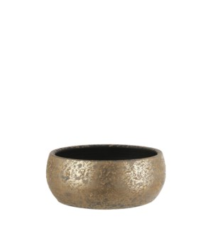 """Clemente bowl round gold - 14.5x6"""""""