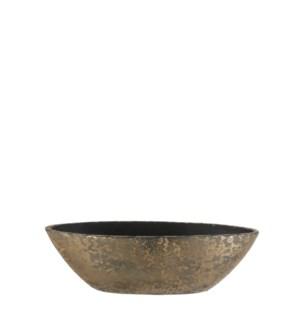 "Clemente pot oval gold - 19x7.5x6"""