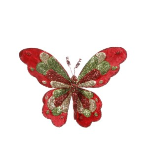 """Clip butterfly red - 7.5x8x3.25"""""""