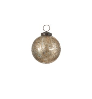 """Bauble glass gold - 2.75"""""""
