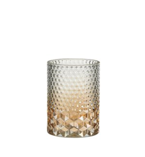 Tealight holder gold - 4.25x6""
