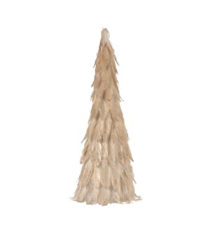 Cone feather gold - 9.75x23.75""