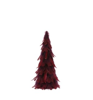 """Cone feather d. red - 8.25x18"""""""