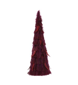 """Cone feather d. red - 9.75x23.75"""""""