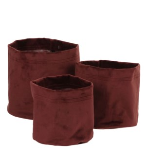 "Romy pot purple set of 3 - 7x6.75"""