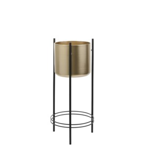 Sverre pot on stand gold - 10.75x26""