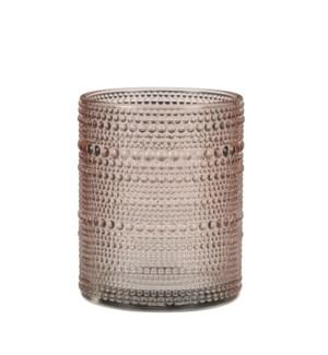 """Tealight holder dot l. pink - 4x4.75"""""""
