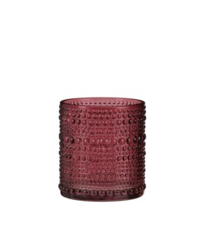 "Tealight holder dot purple - 2.75x3.25"""