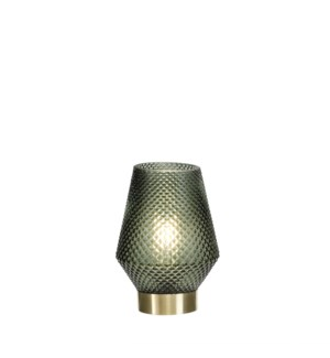 """Fanny mood lighting green led battery operated - 4.75x6.75"""""""