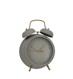 Buzz clock grey - 7.75x3.25x10.75""