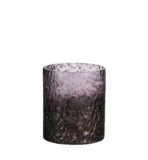 "Tealight holder raindrops lilac - 3.25x3.5"""