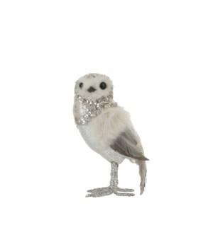 "Owl grey - 4.25x3.5x7.5"""
