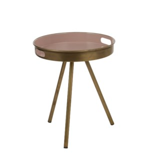 """Imperia side table l. pink - 15x17.75"""""""