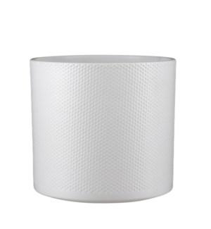 """Era pot round white relief - 11x10.25"""""""