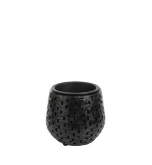 """Abbot pot round black - 10.25x9.5"""""""