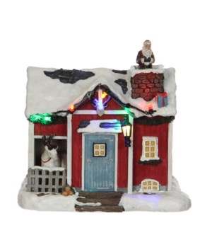 Visit Santa battery operated - 6.5x4.25x6""