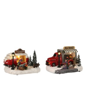 Christmas stall Van selling trees battery operated - 8x6x5.5""