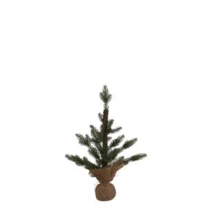 """Xmas tree green w burlap TIPS 12 - 11x17.75"""""""