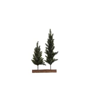 """Xmas tree green glitter gold double TIPS 109 - 4x17.75"""""""