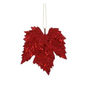 """Ornament maple leaf bordeaux 6 pieces - 5.5x5.5"""""""