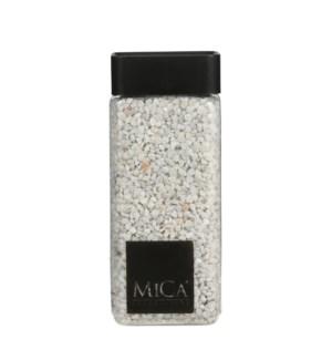 """Granulate white glitter silver 1kg - 3x3x6"""""""