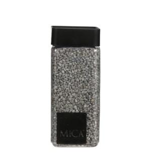 "Granulate grey glitter silver 1kg - 3x3x6"""
