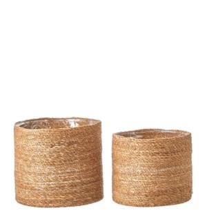 """Atlantic Basket l. brown set of 2 - 11.75x10.25"""""""