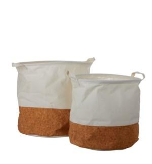 "Darcia basket off white set of 2 - 15.75x15.75"""
