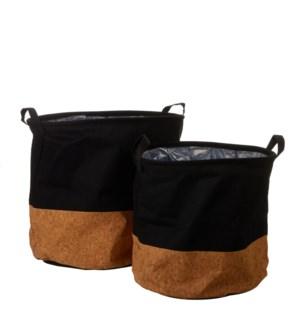 "Darcia basket black set of 2 - 15.75x15.75"""