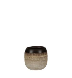 "Luso pot round cream - 6.25x6"""