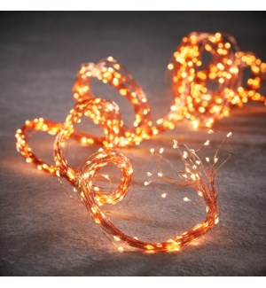 String bundle copper w. white 240led 8 function - 6.5'