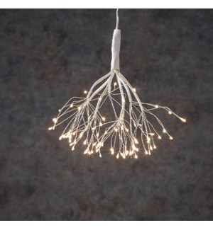 Dandelion twinkling hanging silver white 80led BO tim. - 8""