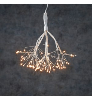 Dandelion twinkling hang. silver w.white 80led BO tim. - 8""