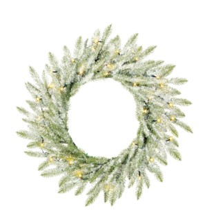 Brewer wreath led BO green frosted 30L TIPS 176 - d60cm